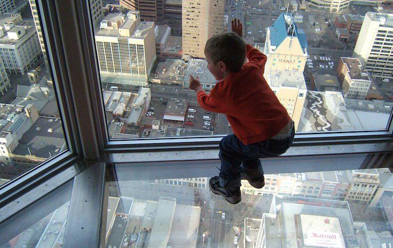 Страх высоты у ребенка